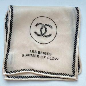 ✨Auth - CHANEL 💯 Silk Beige handkerchief for vip